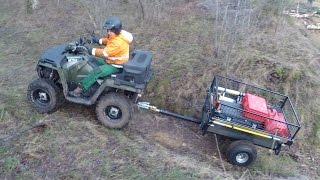 getlinkyoutube.com-ATV / Quad Anhänger für Gärtner und Waldarbeiter Teil 2