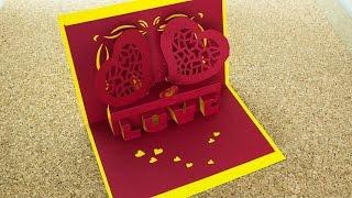 getlinkyoutube.com-Tarjeta Love 3D Pop Up / Enamorados / #SanValentinDePapel ( Remake )