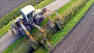 getlinkyoutube.com-Claas Xerion 3300 VC Octopus | Ditch Bank Mower | Loonbedrijf Hack