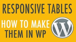 getlinkyoutube.com-Make Responsive Tables in WordPress