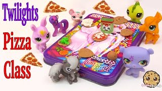 getlinkyoutube.com-MLP Twilight Sparkle's Playdoh PIZZA Class - My Little Pony LPS Students Shopkins Video Play