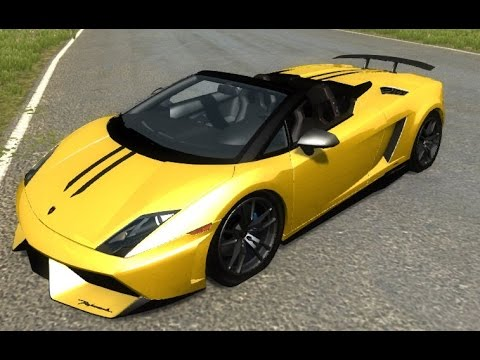BeamNG mod : Lamborghini Gallardo LP570-4 Spyder (Crash test