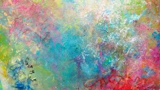 getlinkyoutube.com-Texture techniques on canvas / mixed media