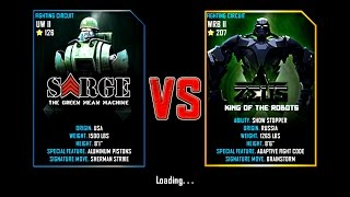 getlinkyoutube.com-Real Steel WRB Sarge VS Zeus (champion) King Of The Robots NEW UPDATE (Живая Сталь)