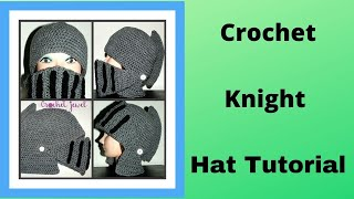 getlinkyoutube.com-How to Crochet Boy's & Man's Knight Helmet Hat Part I