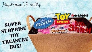 getlinkyoutube.com-Super Surprise TOY Treasure Box Ep2!! Frozen, ReMent, Toy Story, Stitch