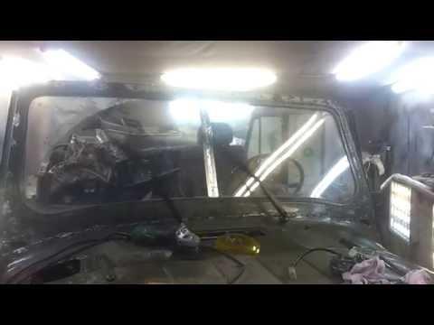 Нижние дворники от ВАЗ 2101 в УАЗ 469 (окончательный вариант)