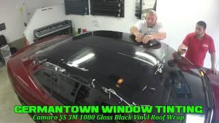 getlinkyoutube.com-Camaro 3M 1080 Gloss Black Roof Wrap