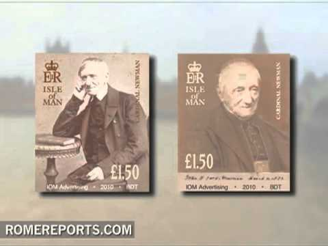 United Kingdom isle issues three stamps on the Pope and Cardinal Newman