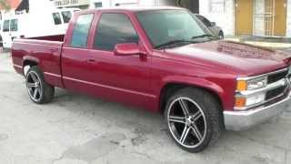 www.DUBSandTIRES.com 22 Inch Iroc Wheels 1999 Chevy Silverado Black  Machined Truck Rims