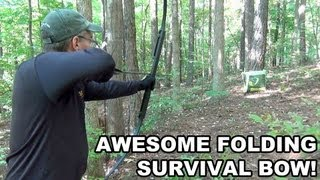 getlinkyoutube.com-Awesome Folding Survival Bow! Primal Gear Unlimited's CFSB