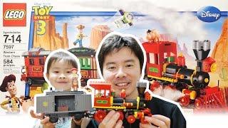getlinkyoutube.com-トイ・ストーリーのレゴがあった! LEGO TOY STORY3 Western Train Chase 7597
