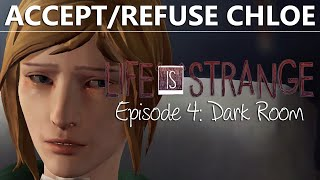 getlinkyoutube.com-Life Is Strange Episode 4 CHOICE ACCEPT / REFUSE CHLOE Morphine | Dark Room