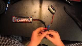 getlinkyoutube.com-Simple circut to test a Brushed RC motor