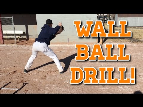 How To: Baseball WALL BALL Fielding Drill!