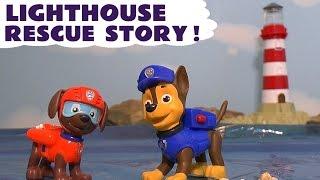 getlinkyoutube.com-Paw Patrol Lighthouse Rescue Play Doh Stop Motion Toy Story Episode Chase & Zuma TT4U