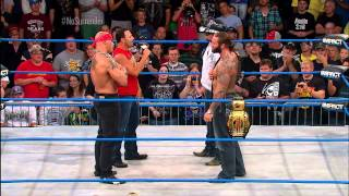 War of Words between James Storm and Gunner and Chavo Guerrero and Hernandez - September 12, 2013