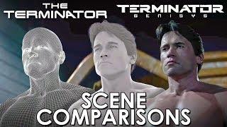 getlinkyoutube.com-The Terminator and Terminator: Genisys - scenes comparisons