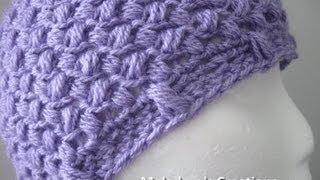 getlinkyoutube.com-Bean Stitch Beanie - Crochet Tutorial - Baby - Adult sizes