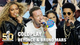 getlinkyoutube.com-Coldplay's FULL Pepsi Super Bowl 50 Halftime Show feat. Beyoncé & Bruno Mars! | NFL