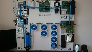 """getlinkyoutube.com-""""Project Iceberg"""" The Ultimate Watercooled Gaming Wall! PC PS4 PS3 XBOX 360"""
