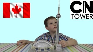 getlinkyoutube.com-3D пазл складываем башню Си Ен Тауэр Канада CN tower 3d puzzle toy
