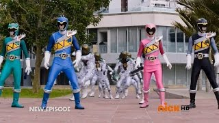 getlinkyoutube.com-Power Rangers Dino Charge - Double Ranger, Double Danger - Power Rangers vs Clone Rangers
