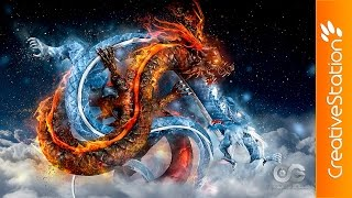 getlinkyoutube.com-Fire And Ice - 3D Speed art (#ZBrush, #Photoshop) | CreativeStation