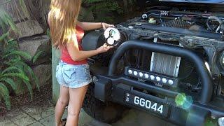 getlinkyoutube.com-LED Headlights Install: J.W. Speaker 8700 Evolution J on Jeep Wrangler
