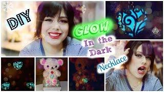 getlinkyoutube.com-DIY Glow in the dark heart NECKLACE