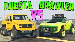 getlinkyoutube.com-DUBSTA 6x6 vs COIL BRAWLER - Test de Velocidad - GTA V Online PS4