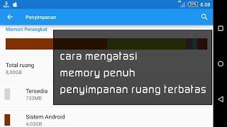cara mengatasi memory penuh atau penyimpanan ruang terbatas pada android sony xperia m4 aqua