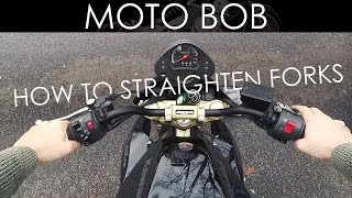 How To Straighten Motorcycle Forks & Handlebars