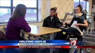 Benefit for woman paralyzed by crash