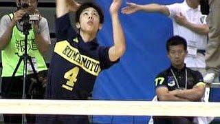 getlinkyoutube.com-バレーボール国体3位決定戦★1【石川 vs 熊本】 わかやま国体  Volleyball High School Men's Japan