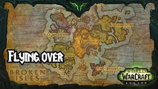 getlinkyoutube.com-[WoW Legion : Alpha] Flying Over The Broken Isles