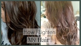 getlinkyoutube.com-How I Lighten My Hair and Roots and Home │ How I Color My Hair to Light Ash Brown/Blonde
