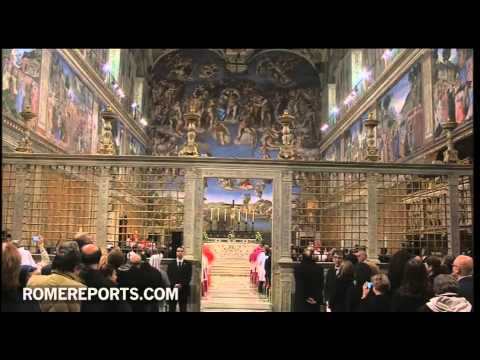 Pope prays Vespers in Sistine Chapel to mark 500th anniversary