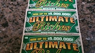 getlinkyoutube.com-Cashier Said Good Luck! CA Lottery Scratchers, 3 Cards - 1 Result