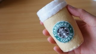 getlinkyoutube.com-How to Make a Cute Starbucks Coffee Plushie