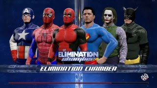 WWE 2K15 Captain America Vs Batman Vs Superman Vs Deadpool Vs Spiderman Vs The Joker