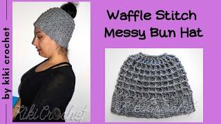 getlinkyoutube.com-Crochet Messy Bun Beanie