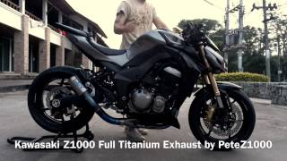 getlinkyoutube.com-PeteZ1000 : Kawasaki Z1000 Full Titanium Exhaust Sound