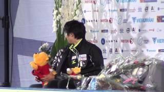 getlinkyoutube.com-Finlandia Trophy 2013 Yuzuru HANYU kiss&cry SP 00056