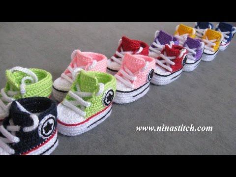 Patucos Beb All Star A Crochet Parte I Videos De | Free Lotto ...