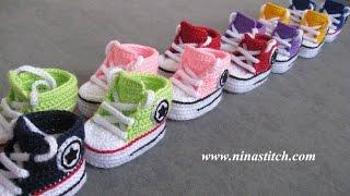 getlinkyoutube.com-Baby Booties Crochet