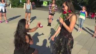 getlinkyoutube.com-Violeta and Limor's Surprise Flash Mob Proposal - New York