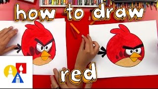 getlinkyoutube.com-How To Draw Red From Angry Birds