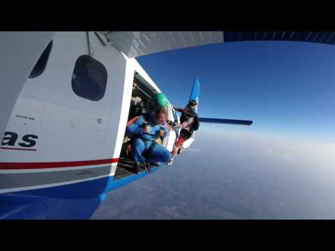 Some skydiving exits from the wing cam