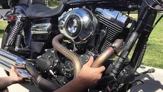 getlinkyoutube.com-Install & Review: Freedom Performance Sharp Curve Radius Exhaust for Harley Davidson Dyna 2006-2015